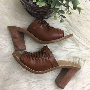 J. Crew Slip-On Dark Brown Mule Heel Sandal Size 7